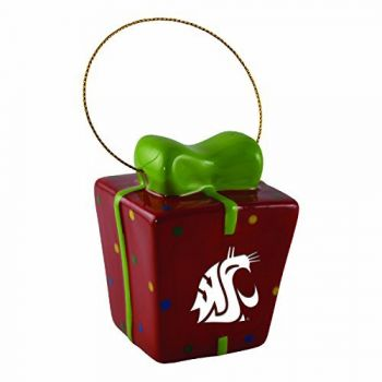 Washington State University-3D Ceramic Gift Box Ornament