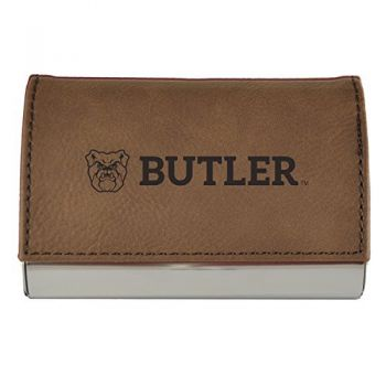 Velour Business Cardholder-Butler University-Brown