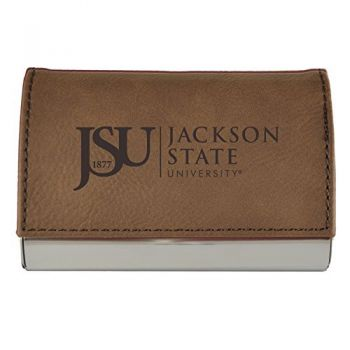 Velour Business Cardholder-Jackson State University-Brown