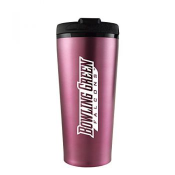 Bowling Green State University -16 oz. Travel Mug Tumbler-Pink