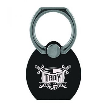 Troy University|Multi-Functional Phone Stand Tech Ring|Black