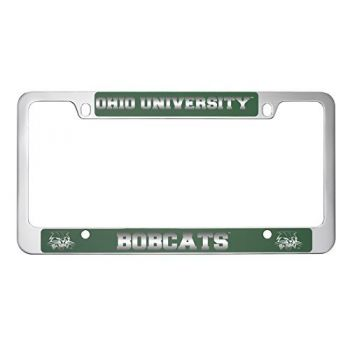 Ohio University -Metal License Plate Frame-Green