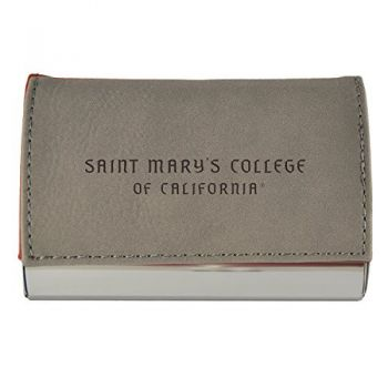 Velour Business Cardholder-Saint Mary's College of California-Grey