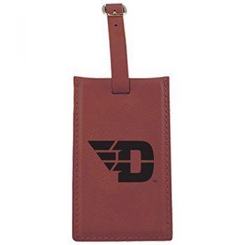 University of Dayton -Leatherette Luggage Tag-Burgundy