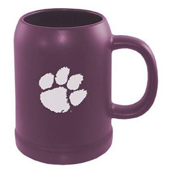 Clemson University -22 oz. Ceramic Stein Coffee Mug-Purple