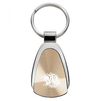 University of Arkansas - Pine Bluff - Teardrop Keychain - GOLD