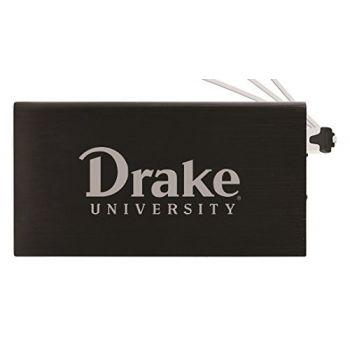 8000 mAh Portable Cell Phone Charger-Drake University-Black