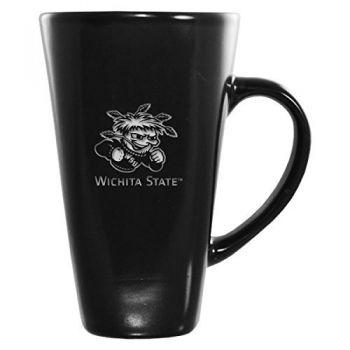 Wichita State University -16 oz. Tall Ceramic Coffee Mug-Black