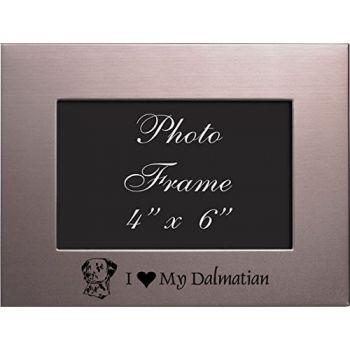 4 x 6  Metal Picture Frame  - I Love My Dalmatian