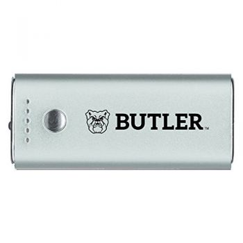 Butler University -Portable Cell Phone 5200 mAh Power Bank Charger -Silver