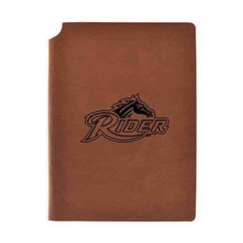 Rider University Velour Journal with Pen Holder|Carbon Etched|Officially Licensed Collegiate Journal|