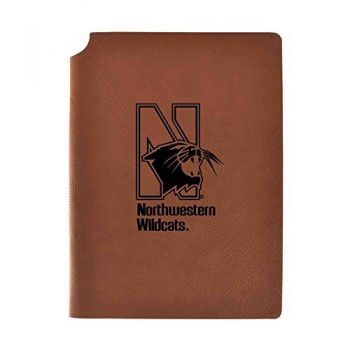 Northwestern University Velour Journal with Pen Holder|Carbon Etched|Officially Licensed Collegiate Journal|