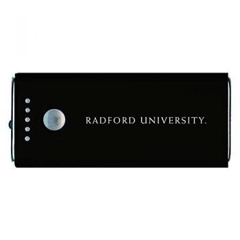 Radford University -Portable Cell Phone 5200 mAh Power Bank Charger -Black