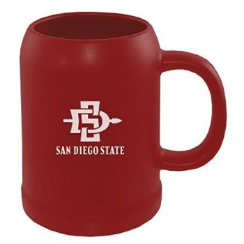 San Diego State University -22 oz. Ceramic Stein Coffee Mug-Red