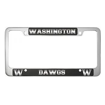University of Washington-Metal License Plate Frame-Black