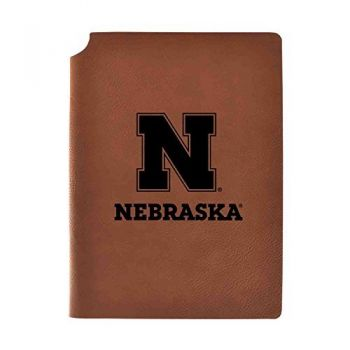 University of Nebraska Velour Journal with Pen Holder|Carbon Etched|Officially Licensed Collegiate Journal|