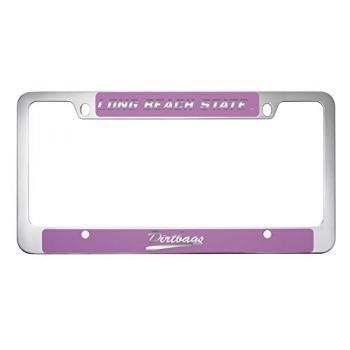 Long Beach State University -Metal License Plate Frame-Pink