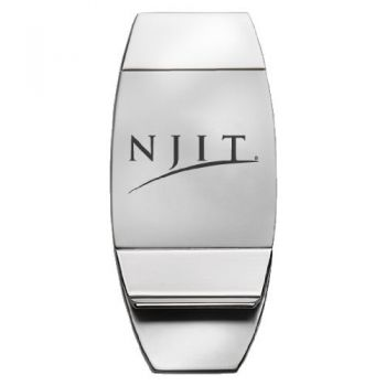 New Jersey Institute of Technology - Two-Toned Money Clip - Silver