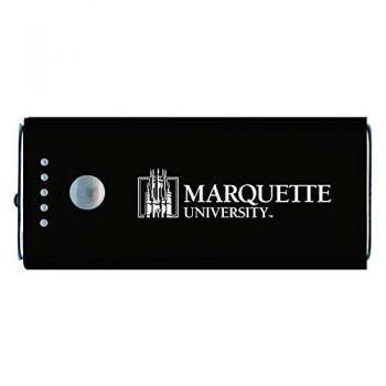 Marquette University-Portable Cell Phone 5200 mAh Power Bank Charger -Black