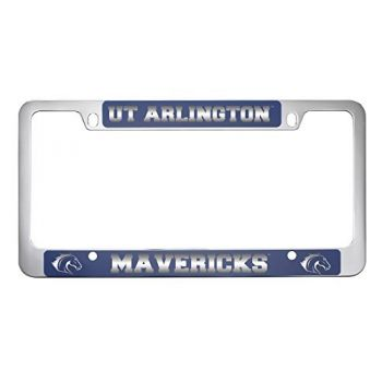 University of Texas at Arlington -Metal License Plate Frame-Blue