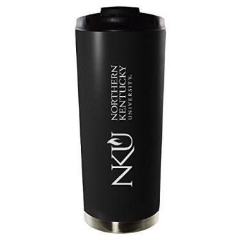 Northern Kentucky University-16oz. Stainless Steel Vacuum Insulated Travel Mug Tumbler-Black