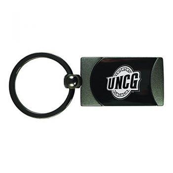 University of North Carolina at Greensboro-Two-Toned gunmetal Key Tag-Gunmetal