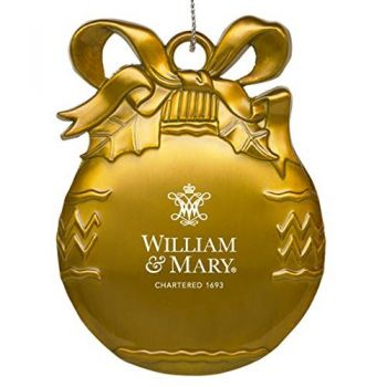 College of William & Mary - Pewter Christmas Tree Ornament - Gold