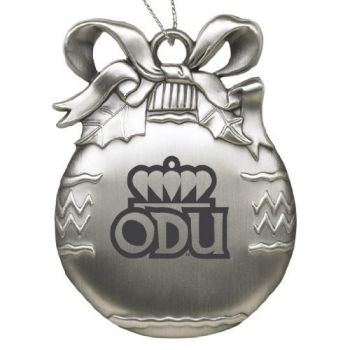 Old Dominion University - Pewter Christmas Tree Ornament - Silver