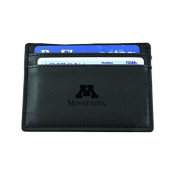 University of Minnesota-European Money Clip Wallet-Black