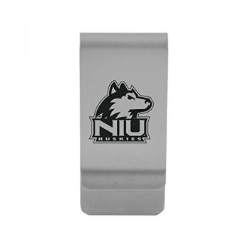 Northern Illinois University|Money Clip with Contemporary Metals Finish|Solid Brass|High Tension Clip to Securely Hold Cash, Cards and ID's|Gold