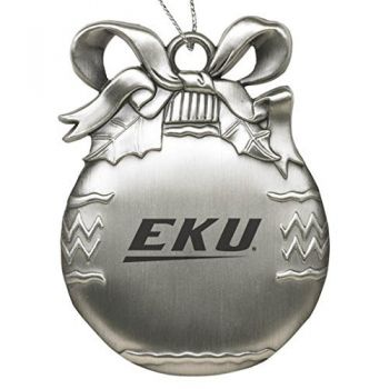 East Kentucky University - Pewter Christmas Tree Ornament - Silver