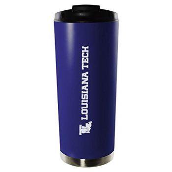 Louisiana Tech University-16oz. Stainless Steel Vacuum Insulated Travel Mug Tumbler-Blue
