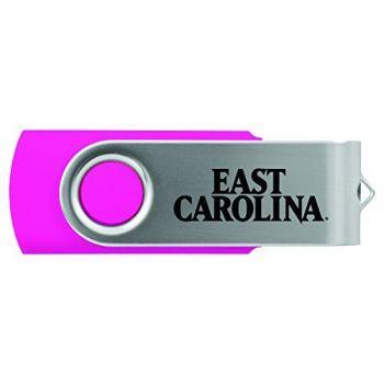 East Carolina University-8GB 2.0 USB Flash Drive-Pink