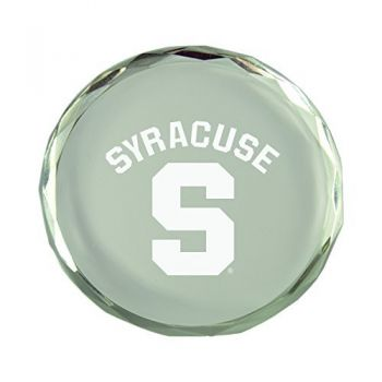 Syracuse University-Crystal Paper Weight