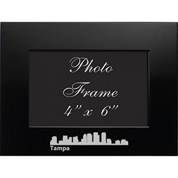 Tampa, Florida-4x6 Brushed Metal Picture Frame-Black