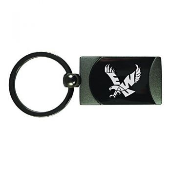 Eastern Washington University -Two-Toned Gun Metal Key Tag-Gunmetal