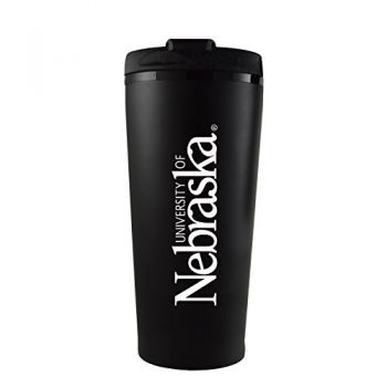 University of Nebraska-16 oz. Travel Mug Tumbler-Black