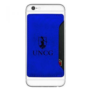 University of North Carolina at Greensboro-Cell Phone Card Holder-Blue