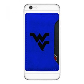 West Virginia University-Cell Phone Card Holder-Blue