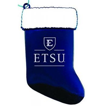 East Tennessee State University - Christmas Holiday Stocking Ornament - Blue