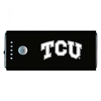 Texas Christian University -Portable Cell Phone 5200 mAh Power Bank Charger -Black