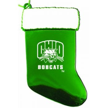 Ohio University - Chirstmas Holiday Stocking Ornament - Green