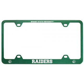 Wright State university -Metal License Plate Frame-Green