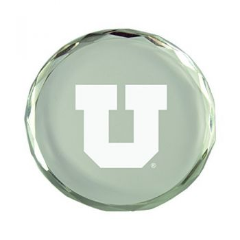 University of Utah-Crystal Paper Weight