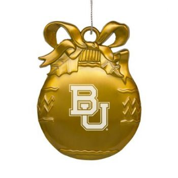Baylor University - Pewter Christmas Tree Ornament - Gold