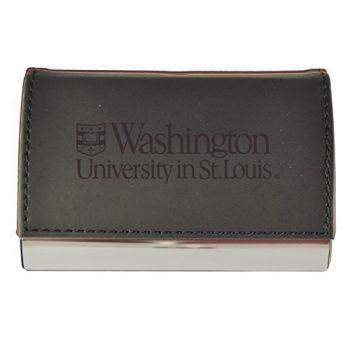 Velour Business Cardholder-Washington University in St. Louis-Black