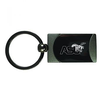 Alabama State University -Two-Toned Gun Metal Key Tag-Gunmetal
