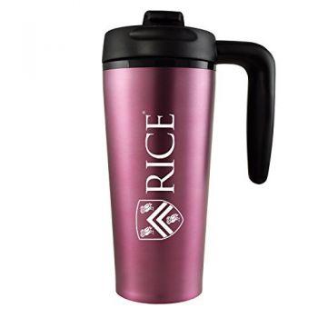 Rice University -16 oz. Travel Mug Tumbler with Handle-Pink