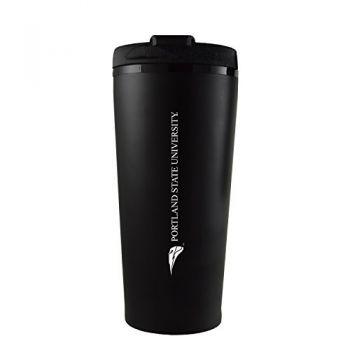 Portland State University -16 oz. Travel Mug Tumbler-Black
