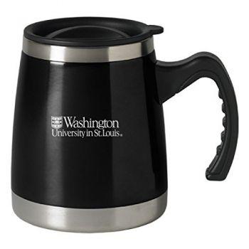 Washington University in St. Louis - 16-ounce Squat Travel Mug Tumbler - Black